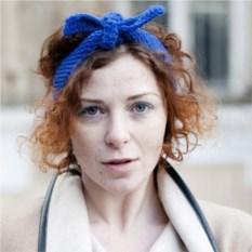 Синяя повязка на голову