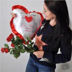 Именная подушка-сердце Вместе навсегда