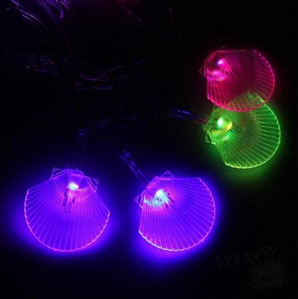 Светодиодная LED гирлянда Ракушки