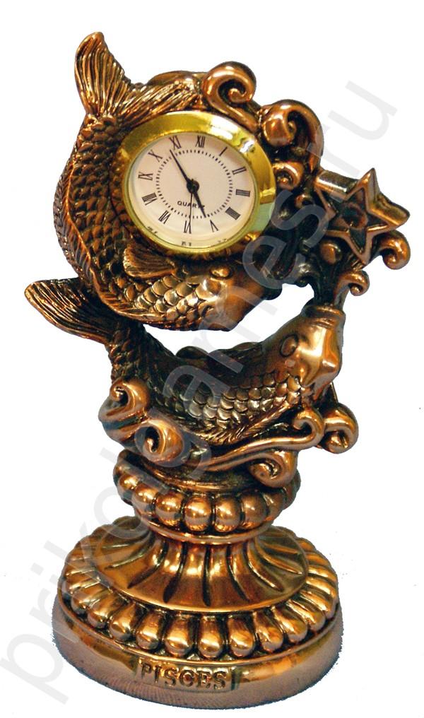 Статуэтка с часами Рыбы