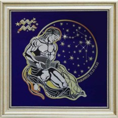 Картина с кристаллами Сваровски Звездный Водолей