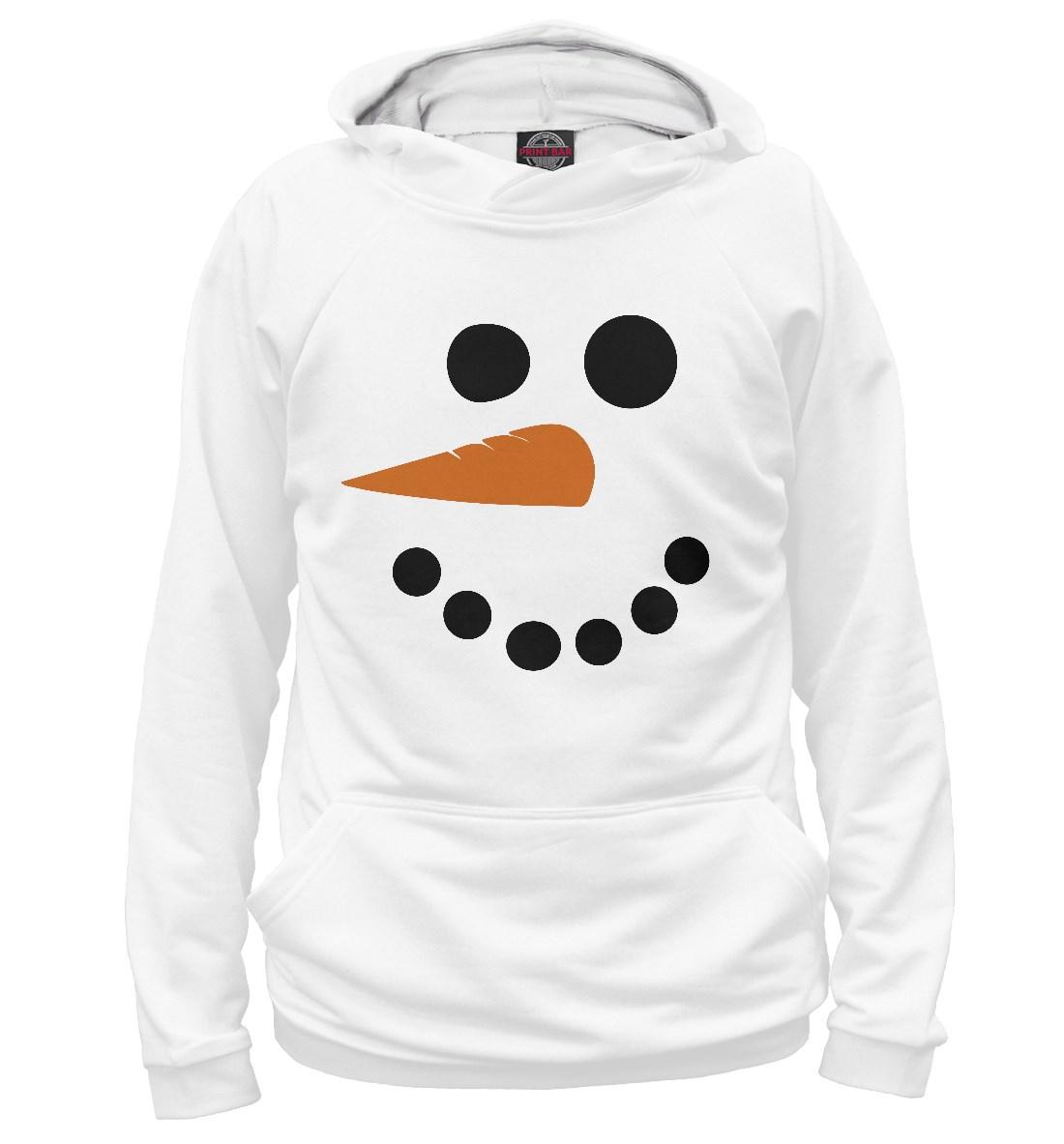 Женское худи Снеговик (минимализм)