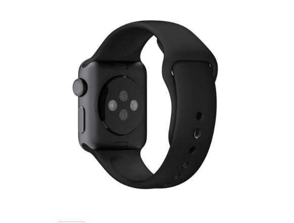Ремешок Black Sport Band Space Gray Stainles для Apple Watch