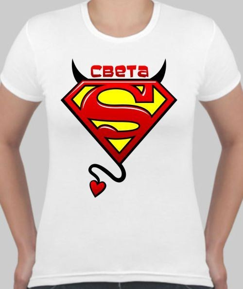 Женская футболка Света супермен