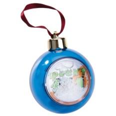 Елочный шар-шкатулка синего цвета