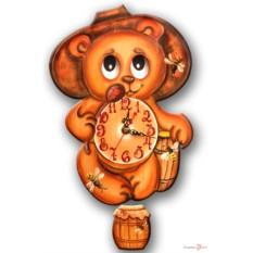 Часы настенные с маятником Медведь