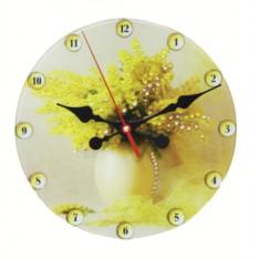 Настенные часы с кристаллами Swarovski Мимоза