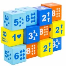Цветные кубики Математика (12 штук)