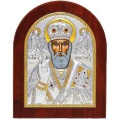 Икона в серебряном окладе Николай Чудотворец (Угодник)