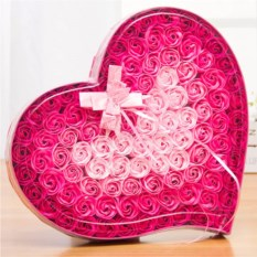 Подарочный набор цветов из мыла «Сердце»