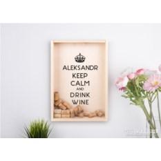 Копилка для винных пробок «KEEP CALM»