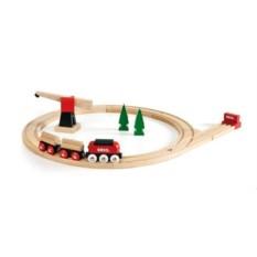 Деревянная железная дорога с краном BRIO 33010