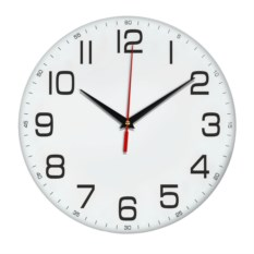 классические настенные белые часы