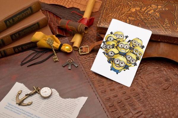 Кожаная обложка для документов Миньоны