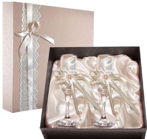 Набор свадебных бокалов №49 в подарочной коробке