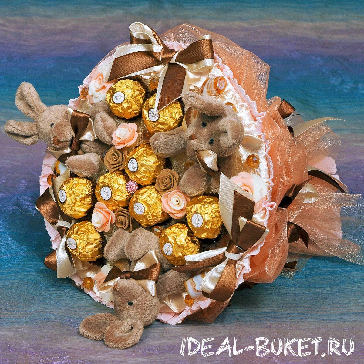 Букет Шоколадные зайцы - мини