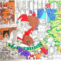 Новогодняя плакат-раскраска от Каракули