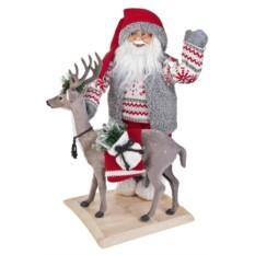 Новогоднее украшение Дед Мороз с оленем