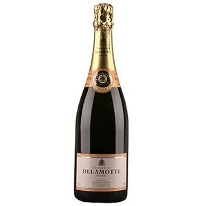Шампанское розовое брют Delamotte., объем 0,75 л.