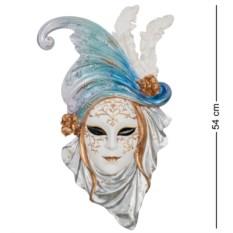 Венецианская маска Маки (цвет — бело-голубой)