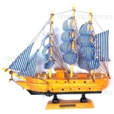 Корабль Confection с пиратскими синими парусами, длина 22