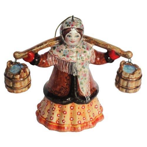 Ёлочная игрушка Баба с ведрами (Масленица) *
