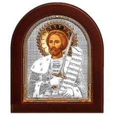 Икона Александр Невский Святой благоверный князь, серебро
