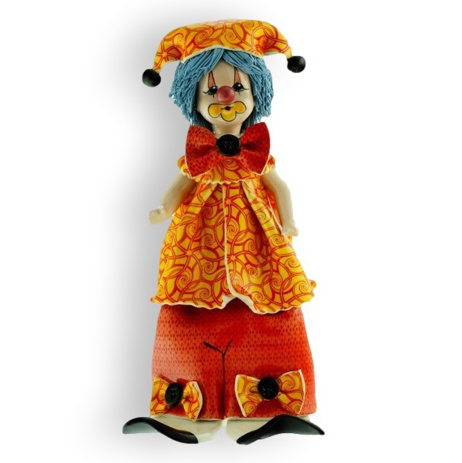 Фигурка из фарфора Клоун в оранжево-красном от ZamPiva