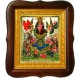 Живоносный источник. Икона Божьей Матери на холсте.