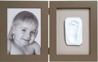 Набор первый след малыша (двойная рамка серая)