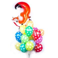 Букет из шаров с цифрой в виде зверюшки