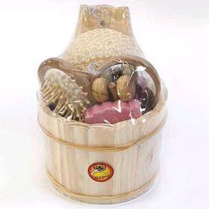 Банный набор в деревянном ведёрке
