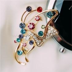 Брошь с разноцветными кристаллами Сваровски Яркая бабочка