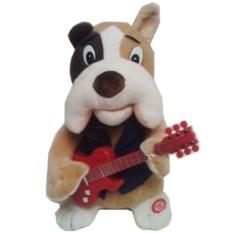 Поющая и танцующая игрушка Собака с гитарой