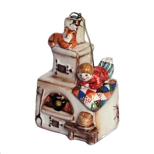 Ёлочная игрушка Печка (коллекция Масленица) *