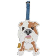 Кожаный ярлык на сумку Bull Dog
