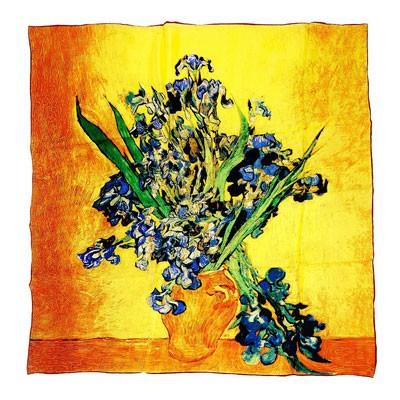 Платок «Ирисы в вазе» Ван Гог