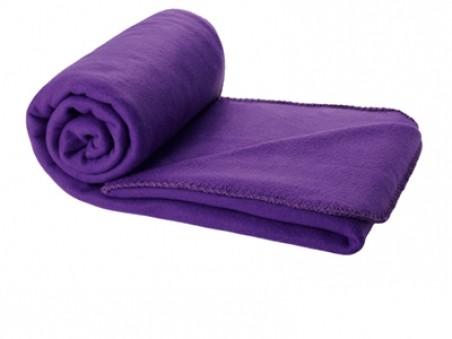 Фиолетовый плед в чехле