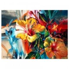 Картина-раскраска на холсте Лилии