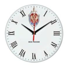 Настенные часы «ФСБ России» белого цвета