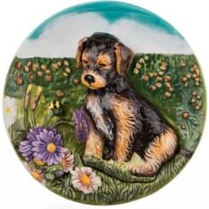 Декоративная тарелка Собака