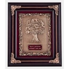 Ключница цвета венге Древо изобилия из дерева и меди