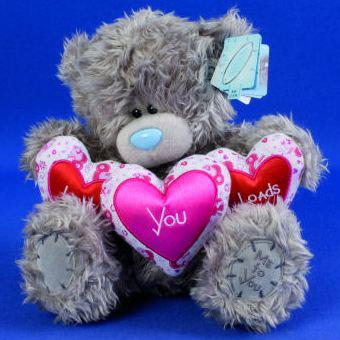 Мишка «Я люблю тебя безумно», 23 см