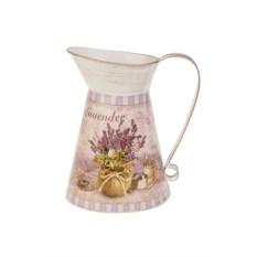Металлическая ваза в форме кувшина Лавандовая мечта