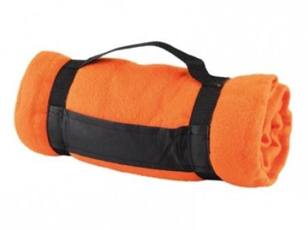 Оранжевый плед