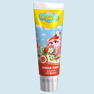 Зубная паста гелевая для детей «Клубника»