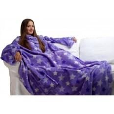 Фиолетовый плед с рукавами Sleepy Luxury