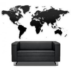Большой черный пазл мира True World Puzzle Black