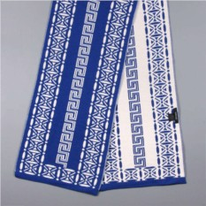 Сине-белый зимний шарф Versace