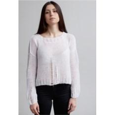 Белый свитер Гранж